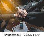 closeup of business partners... | Shutterstock . vector #732371470