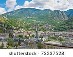 aerial view of the andorra la...   Shutterstock . vector #73237528