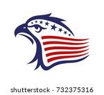 american eagle patriotic logo   Shutterstock .eps vector #732375316