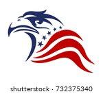 american eagle patriotic logo | Shutterstock .eps vector #732375340