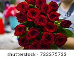 Stock photo a bouquet of red roses 732375733