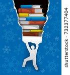 books christmas present. ... | Shutterstock .eps vector #732377404