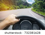 view on the dashboard of the...   Shutterstock . vector #732381628