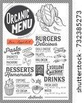 organic menu for restaurant and ...   Shutterstock .eps vector #732385273