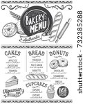 bakery dessert menu for... | Shutterstock .eps vector #732385288