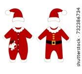 romper suit. christmas costumes ... | Shutterstock .eps vector #732386734