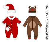 romper suit. christmas costumes ...   Shutterstock .eps vector #732386758