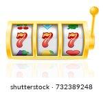 casino slot machine stock... | Shutterstock .eps vector #732389248