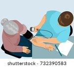 vector illustration of a doctor ... | Shutterstock .eps vector #732390583