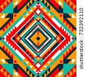 abstract geometric design.... | Shutterstock .eps vector #732392110
