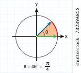 radian measure of some standard ... | Shutterstock .eps vector #732396853