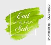 end of season sale sign over... | Shutterstock .eps vector #732398530