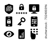 security identity... | Shutterstock .eps vector #732400396