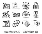 cryptocurrency bitcoin etherium ... | Shutterstock .eps vector #732400513