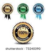 100  money back guarantee | Shutterstock .eps vector #73240390