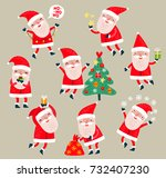 santa claus vector set | Shutterstock .eps vector #732407230