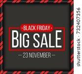 abstract vector black friday... | Shutterstock .eps vector #732407356