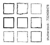 vector set of square sloppy... | Shutterstock .eps vector #732408478