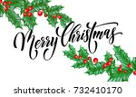 merry christmas greeting card...   Shutterstock .eps vector #732410170