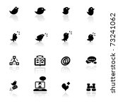 icon set  social networks  | Shutterstock .eps vector #73241062