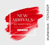 new arrivals sale text over art ...   Shutterstock .eps vector #732413029