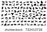 Stock photo animals silhouettes 732413728