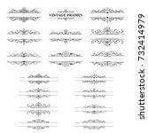 black and white stripes frame... | Shutterstock .eps vector #732414979