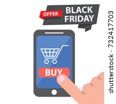 black friday icons. vector... | Shutterstock .eps vector #732417703
