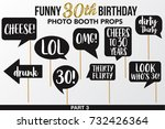 set of funny thirty birthday... | Shutterstock .eps vector #732426364