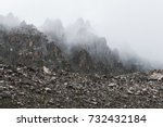 Mountain Landscape With Rocks...