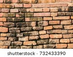 old brick wall  background... | Shutterstock . vector #732433390