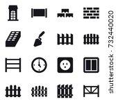 16 vector icon set   building ... | Shutterstock .eps vector #732440020