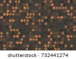 seamless geometric pattern with ... | Shutterstock .eps vector #732441274