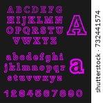 violet modern alphabet | Shutterstock .eps vector #732441574