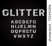 silver glitter alphabet fonts...   Shutterstock .eps vector #732442306