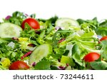 Salad  on white background - stock photo