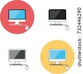 four monitor  four mono block... | Shutterstock .eps vector #732446290