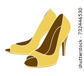 woman shoes icon | Shutterstock .eps vector #732446530