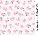 seamless roses pattern. vintage ... | Shutterstock .eps vector #732448330