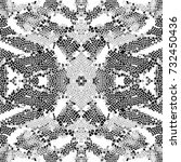 black and white mosaic pattern... | Shutterstock . vector #732450436