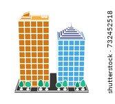 company building icon | Shutterstock .eps vector #732452518