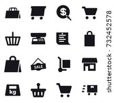 16 vector icon set   shopping... | Shutterstock .eps vector #732452578