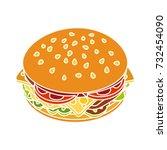 cheeseburger icon   Shutterstock .eps vector #732454090