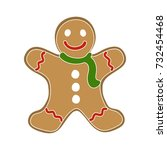christmas cookie icon | Shutterstock .eps vector #732454468