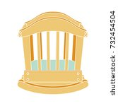 baby rocking bed flat icon   Shutterstock .eps vector #732454504