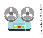 old recorder flat icon   Shutterstock .eps vector #732458770