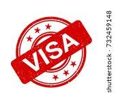 visa   rubber stamp as... | Shutterstock .eps vector #732459148