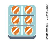 medicine packaging flat icon | Shutterstock .eps vector #732460300