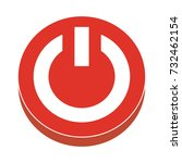 power button flat icon | Shutterstock .eps vector #732462154