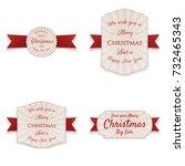 christmas realistic vector... | Shutterstock .eps vector #732465343